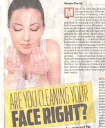 Are you cleaning your face right?