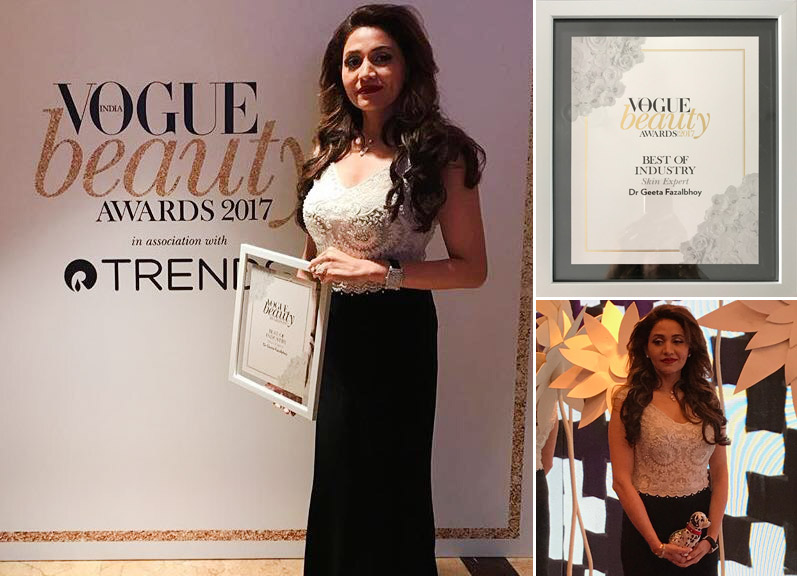 Vogue Beauty Awards 2017, Best of Industry Skin Expert Dr. Geeta Fazalbhoy